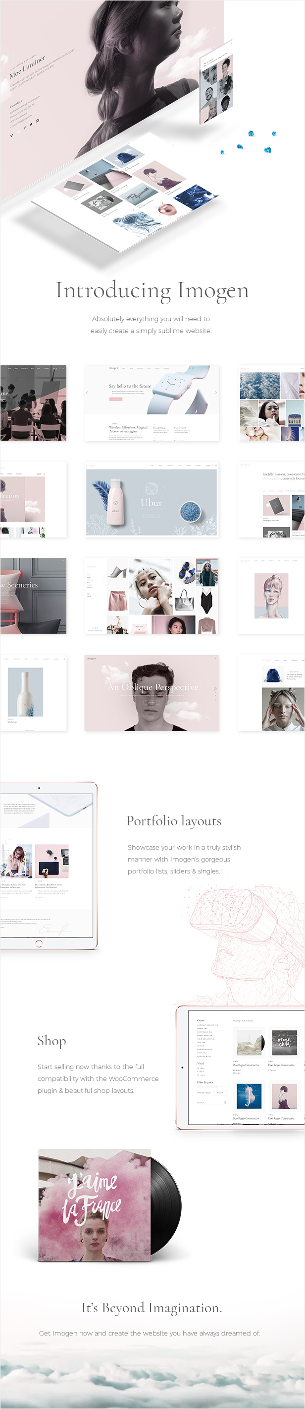 Imogen - Theme for Designers and Creative Businesses - 1